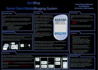 Scm Blog Smart Client Mobile Blogging System