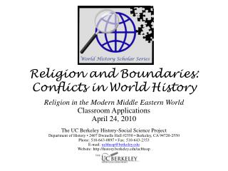 Religion and Boundaries: Conflicts in World History