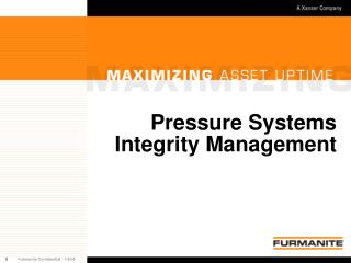 Pressure Systems Integrity Management