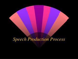Speech Production Process