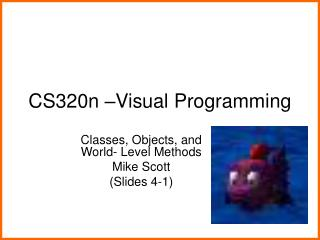CS320n –Visual Programming