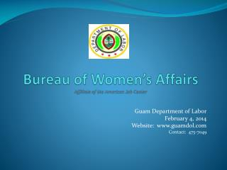 Bureau of Women's Affairs Affiliate of the American Job Center