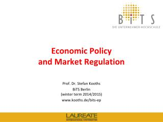 Economic Policy  and Market Regulation
