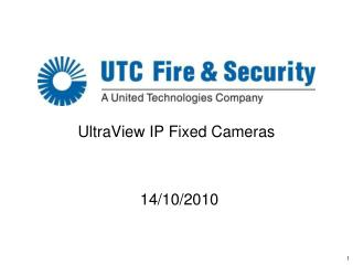 UltraView IP Fixed Cameras
