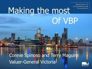 Connie Spinoso and Terry Maguire Valuer-General Victoria