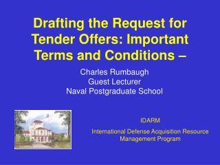 Drafting the Request for Tender Offers: Important Terms and Conditions