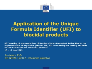 INTRODUCTION TO CLP: CLASSIFICATION, LABELLING AND PACKAGING REGULATION 1272