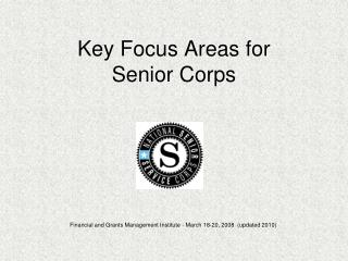 Key Focus Areas for Senior Corps
