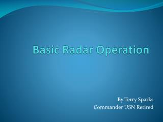 Basic Radar Operation