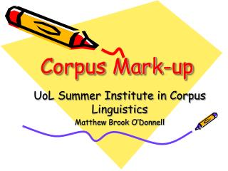 Corpus Mark-up