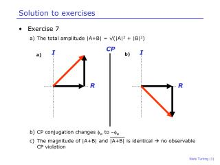 Solution to exercises