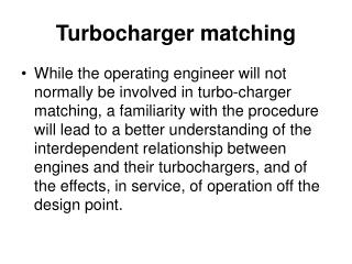 Turbocharger matching
