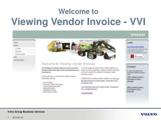 Welcome to Viewing Vendor  Invoice - VVI