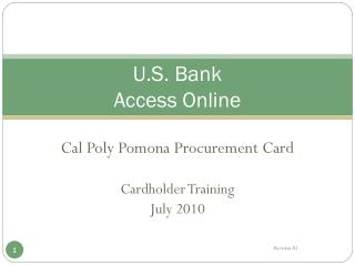 U.S. Bank Access  Online