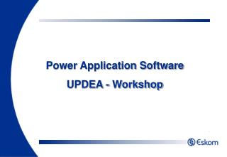 Power Application Software UPDEA - Workshop