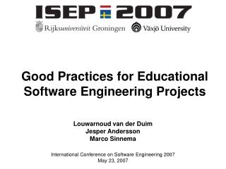Good Practices for Educational Software Engineering Projects