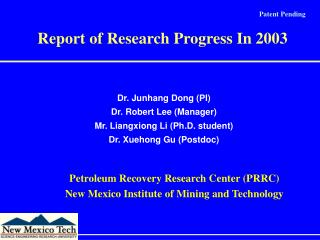 Dr. Junhang Dong (PI) Dr. Robert Lee (Manager) Mr. Liangxiong Li (Ph.D. student)
