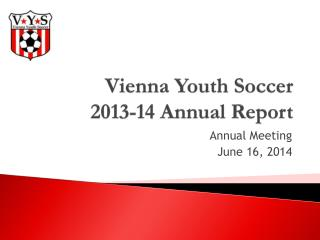 Vienna Youth Soccer 2013-14 Annual Report