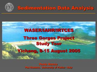 Sedimentation Data Analysis