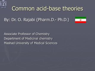 Common acid-base theories