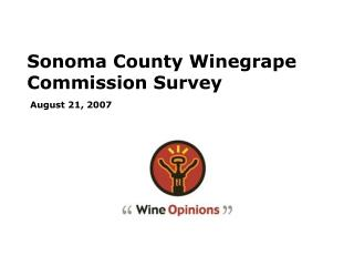Sonoma County Winegrape Commission Survey