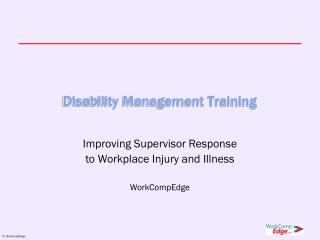 Disability Management Training
