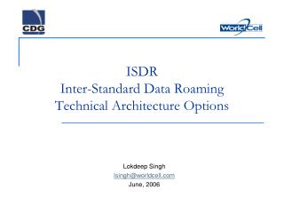 ISDR Inter-Standard Data Roaming Technical Architecture Options
