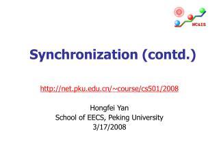 Synchronization (contd.)
