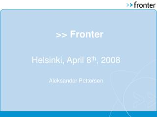 >> Fronter