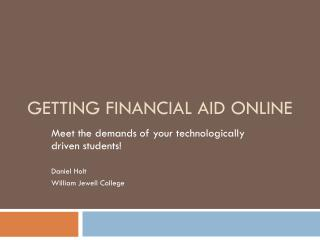 Getting Financial Aid Online