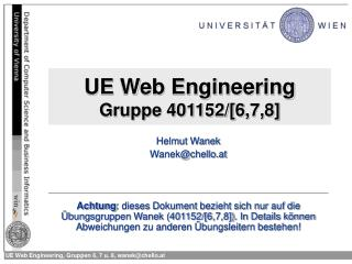 UE Web Engineering Gruppe 401152/[6,7,8]