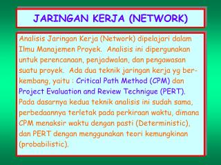 Ppt perth chart amp critical path method powerpoint presentation jaringan kerja network ccuart Image collections