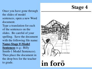 Once you have gone through the slides of model sentences, open a new Word document.