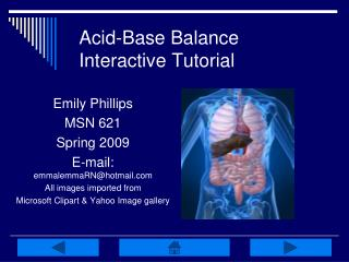 Acid-Base Balance Interactive Tutorial