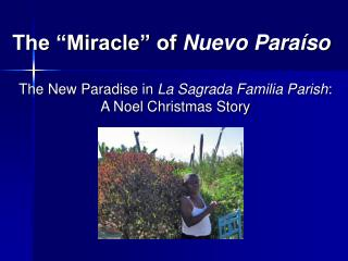"The ""Miracle"" of  Nuevo Paraíso"