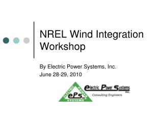 NREL Wind Integration Workshop