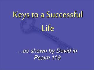 Keys to a Successful Life