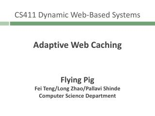 CS411 Dynamic Web-Based Systems