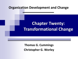 Leading and Managing Change