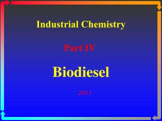Industrial Chemistry Part IV
