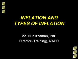 INFLATION AND  TYPES OF INFLATION