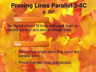 Proving Lines Parallel 3-4C