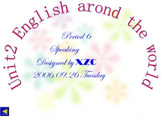 Unit2 English arond the world
