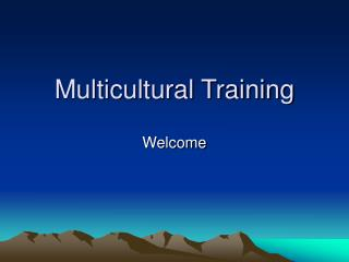 Multicultural Training