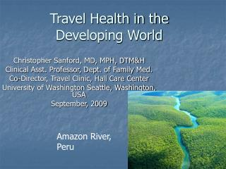 Travel Health in the Developing World