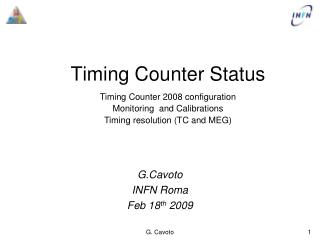 Timing Counter Status