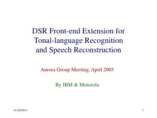 DSR Front-end Extension for Tonal-language Recognition and Speech Reconstruction