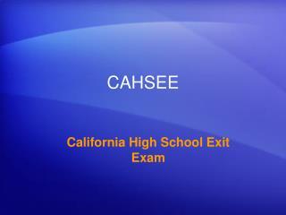 CAHSEE