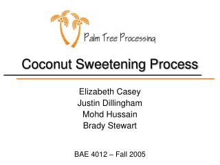 Coconut Sweetening Process