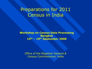 Preparations for 2011 Census in India